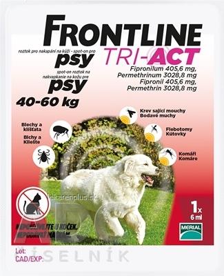 FRONTLINE TRI-ACT Spot-On pre psy XL sol (na kožu, psy 40-60 kg) 1x6 ml