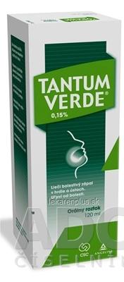 TANTUM VERDE 0,15 % sol ora (fľ.skl.) 1x120 ml