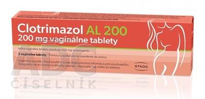 Clotrimazol AL 200 tbl vag 200 mg 1x3 ks