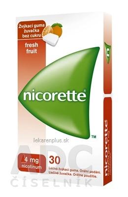Nicorette Freshfruit Gum 4 mg gum med 1x30 ks