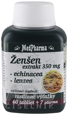MedPharma ŽENŠEN 350 mg + Echinacea + Leuzea tbl 60+7 zadarmo (67 ks)