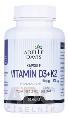 ADELLE DAVIS VITAMÍN D3+K2 cps 1x60 ks