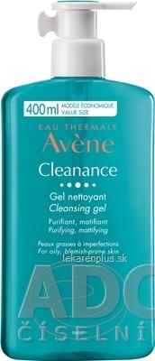 AVENE CLEANANCE GEL NETTOYANT (inov. 2020) čistiaci gél bez mydla, mastná pleť 1x400 ml