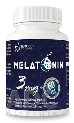 NUTRICIUS Melatonín 3 mg tbl 1x60 ks