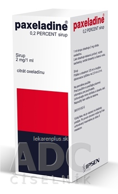 Paxeladine 0,2 percent sirup sir (fľaša skl.) 1x125 ml