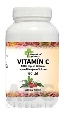 Slovakiapharm VITAMÍN C 1000 mg so šípkami s predĺženým účinkom tbl 1x60 ks