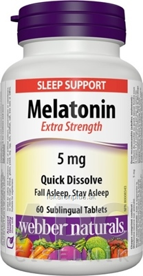 Webber Naturals Melatonin 5 mg tablety pod jazyk, rozpustné 1x60 ks