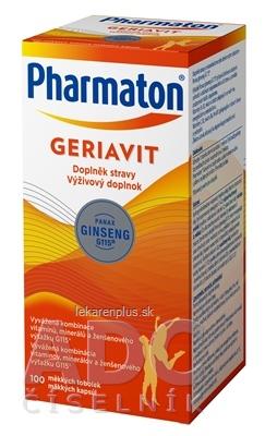 Pharmaton GERIAVIT cps (výživový doplnok 2019 - Sanofi) 1x100 ks