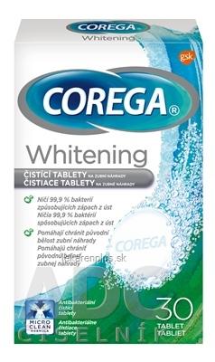 COREGA Whitening antibakteriálne čistiace tablety 1x30 ks