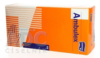 Ambulex rukavice LATEXOVÉ veľ. S, nesterilné, pudrované 1x100 ks