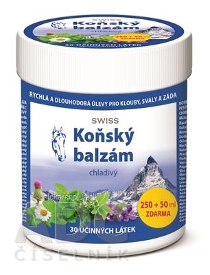 KONSKÝ BALZAM SWISS chladivý 250+50 ml zadarmo (300 ml)