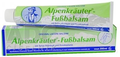 Apothhekers-Cosmetic Alpenkräuter - Fussbalsam balzam s pagaštanom konským a červenou révou 1x200 ml