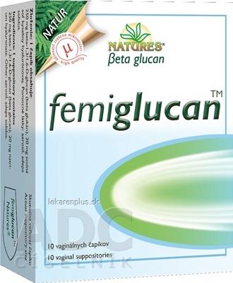 NATURES Femiglucan vaginálne čapíky 1x10 ks