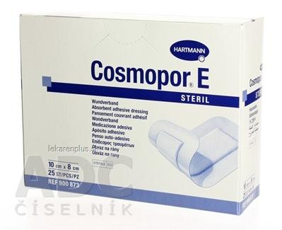 COSMOPOR E STERIL obväz na rany sterilný (10 x 8 cm) 1x25 ks