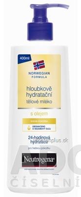 NEUTROGENA NR Hĺbkovo hydratačné telové mlieko s olejom, 1x400 ml