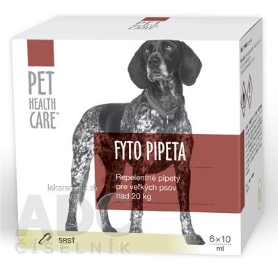 PET HEALTH CARE FYTO PIPETA repelentná, pre veľkých psov nad 20 kg, 6x10 ml