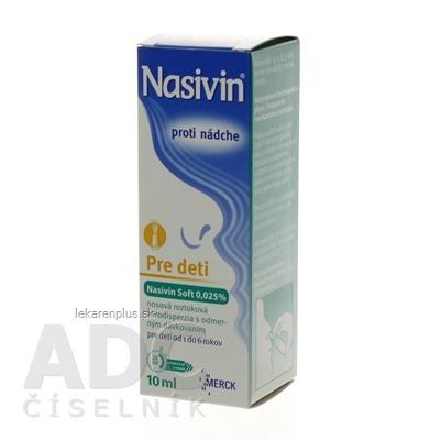NASIVIN SOFT 0,025 % aer nao (dávkovač 3K systém, fľaša PE) 1x10 ml