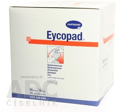 Eycopad očný kompres sterilný (5,6cm x 7cm) 1x25 ks
