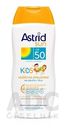 ASTRID SUN Detské mlieko na opaľovanie OF 50 1x200 ml