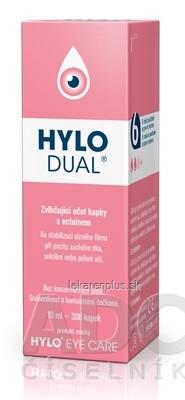 HYLO DUAL zvlhčujúce očné kvapky 1x10 ml
