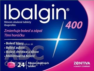 Ibalgin 400 tbl flm 400 mg (blis. PVC/Al) 1x24 ks