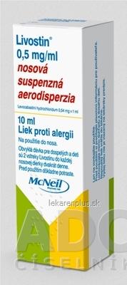 Livostin 0,5 mg/ ml aer nau (fľ.PE) 1x10 ml