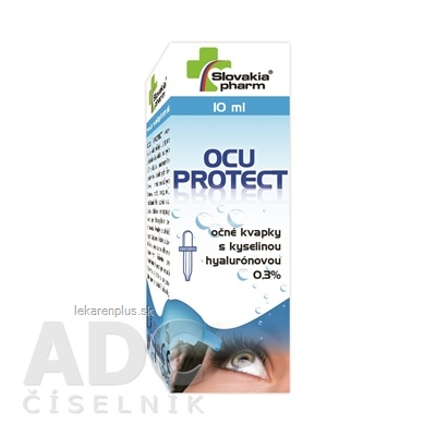 Slovakiapharm OCU PROTECT 0,3% očné kvapky s kys. hyalurónovou 1x10 ml