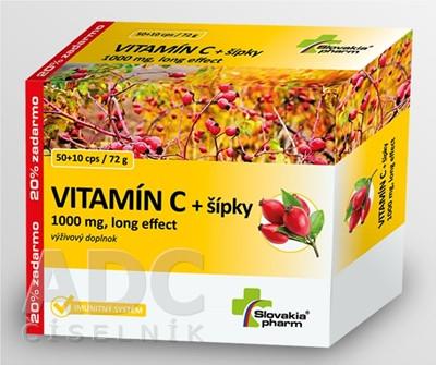 Vitamín C + šípky 1000mg 60cps
