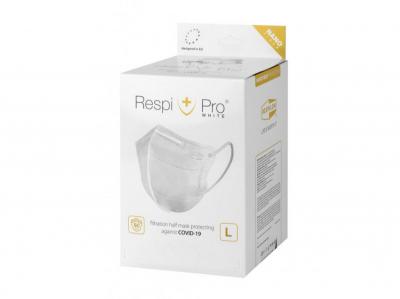 Nano respirátor RespiPro White L 50ks