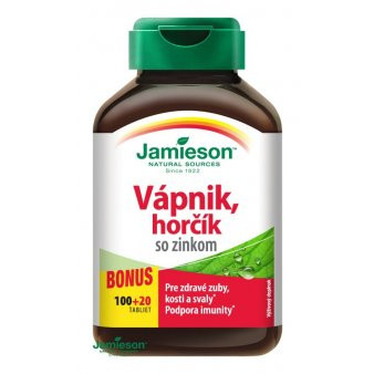 Jamieson Vápnik, horčík so zinkom 120 tbl.