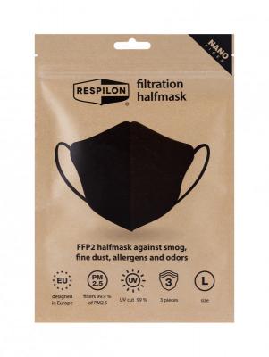RESPILON Nano FFP2 respirátor RespiPro Carbon veľkosť L – 3ks