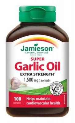 Jamieson Super cesnakový olej 1500mg 100cps.