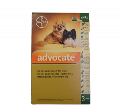 ADVOCATE FOR DOGS DO 4KG 3X0.4ML 81820024