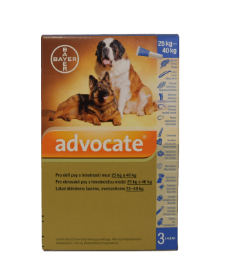 ADVOCATE FOR DOGS 25-40KG 3X4.0ML 81820377